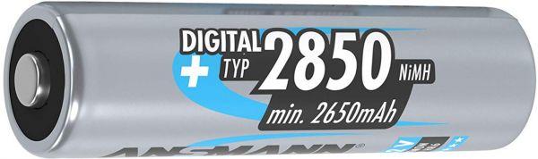 ANSMANN 1 Zelle Digital NiMH Akku Mignon AA Typ 2850 min. 2650mAh Bulk 5035092