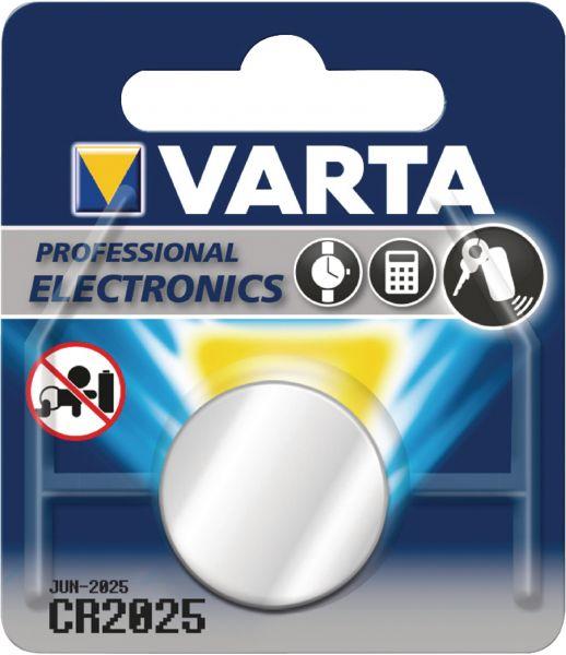 Varta CR2025 1er Blister 3V Batterie Lithium Knopfzelle