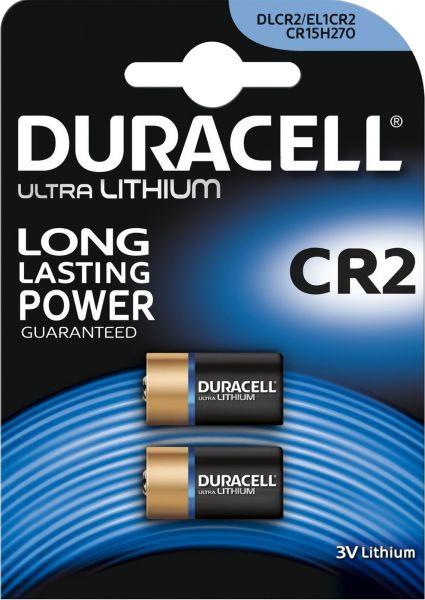 Duracell 3V Lithium, 2er Blister High Power Lithium Batterien CR15H270 CR-2 DLCR2 CR2