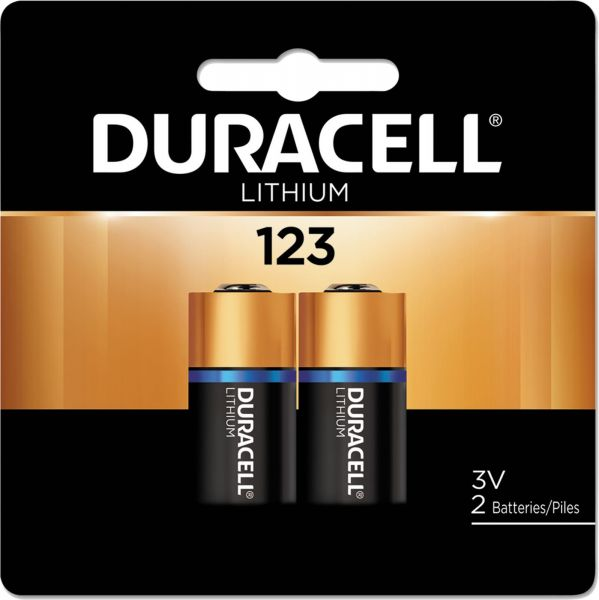 Duracell CR123 High Power Lithium 2er Blister Photobatterie CR123A 3V/B CR17345 123
