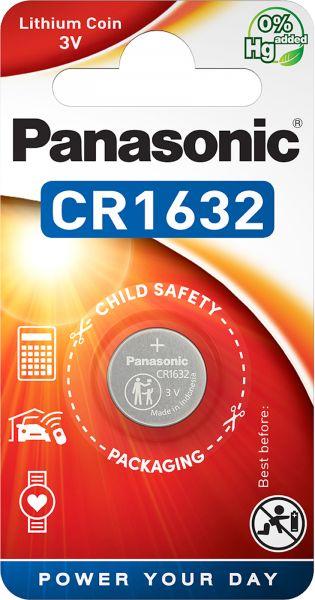 Panasonic Lithium 3V Zelle 1er Blister CR1632 Knopfzelle Lithium Coin CR-1632EL/1B