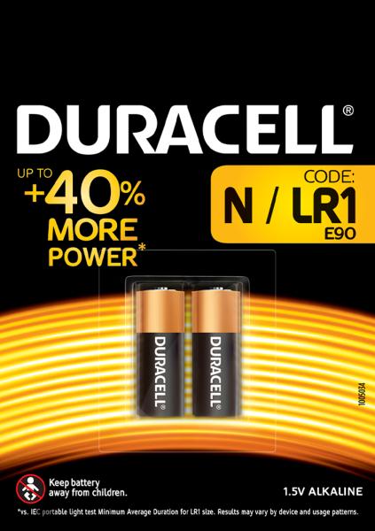 Duracell Specialty Lady N Alkaline Batterien 1,5 V LR1 E90 2er Blister MN9100