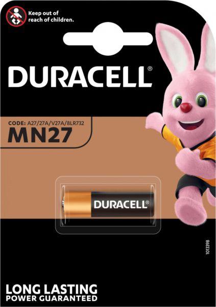 Duracell Specialty Alkaline MN27 Batterien 12 V 1er Blister A27 27A V27A 8LR732 E27A MN27