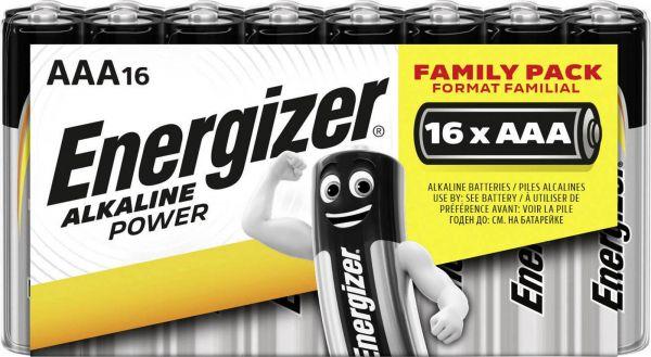Energizer Alkaline Power AAA 16er Shrink Micro Batterie 1,5V LR03 E300171700
