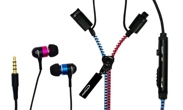 Typhoon UniqueLase, String Stereo Headset, blue / pink