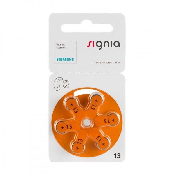 Siemens Signia Gr. 13 Hörgerätebatterien Orange 6er Blister PR48 24606