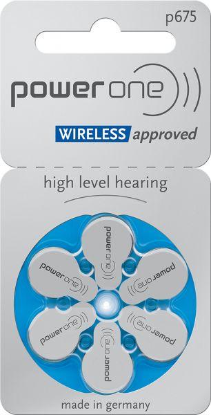 Varta Power One Gr. 675 Hörgerätebatterien 1,45V 6er Blister PR44 Blau 24600 p675