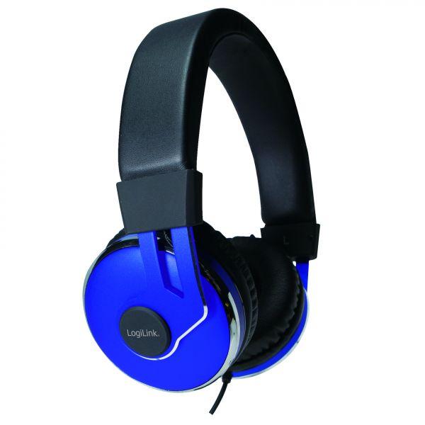 LogiLink On-Ear Stereo Headset mit extra weichen Polstern