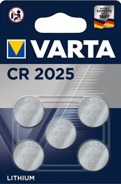 Varta CR2025 5er Blister 3V Batterie Lithium Knopfzelle 6025 VCR2025