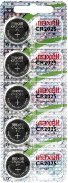 Maxell CR2025 Batterie 5er Blister 3V Lithium Knopfzelle CR2025