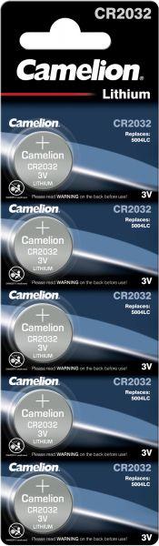 Camelion Lithium Knopfzelle CR2032 2032 3V 5er Blister CR2032-BP5