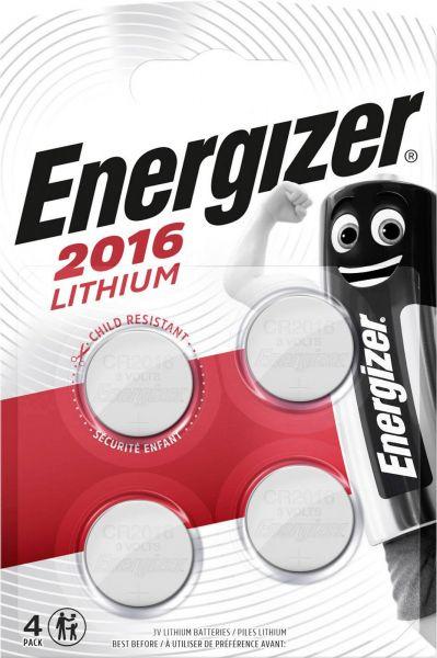 Energizer Lithium 3V Zelle 4er Blister CR2016 IEC C Knopfzelle ECR20164