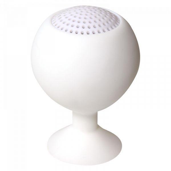 LogiLink Iceball Handyhalter und Lautsprecher weiß wiederaufladbar SP0030