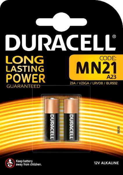 Duracell Specialty Alkaline MN21 Batterien 12 V A23 V23GA 2er Blister MN21