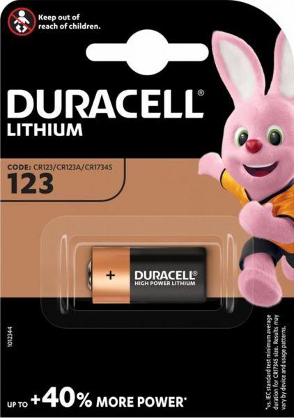 Duracell CR123 High Power Lithium 1er Blister Photobatterie CR123A 3V/B CR17345 123