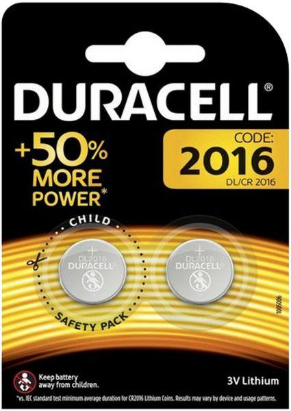 Duracell Knopfzelle Lithium CR2016 2er Blister 3V DL2016 2016