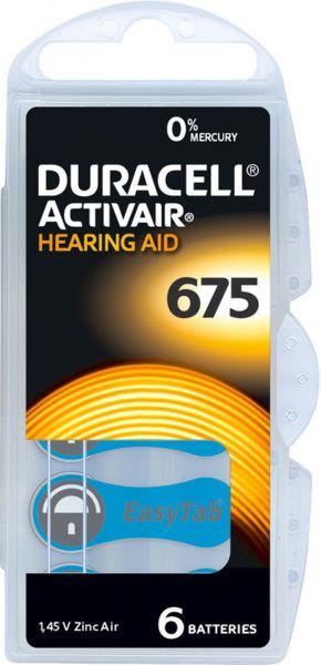 Duracell Activair Gr. 675 Hörgerätebatterien 6er Blister PR44 Blau 24600 Hearing Aid 7312