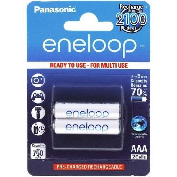Panasonic Eneloop AAA Akku 2er Blister HR03 BK-4MCCE/2BE