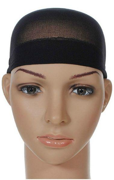 EWANTO Unterziehhaube, Perückenstrumpf, Perückenkappe 2er Pack aus flexiblem Nylon in schwarz HA-25
