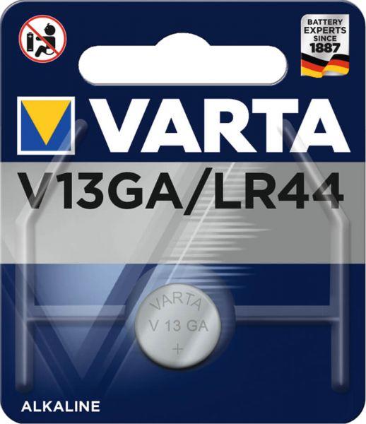 Varta Knopfzelle Alkali-Mangan LR44 1er Blister LR1154 357A GPA76 82 1,5V 4276 V13GA