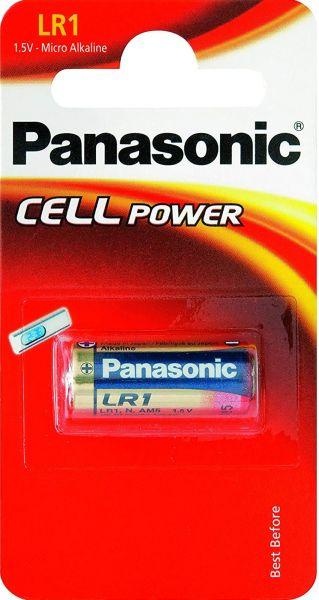 Panasonic 1er Blister LR1 Lady Micro Alkaline Batterie 1,5 V LR1L/1BE