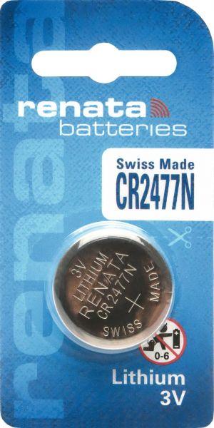 Renata CR2477 3V Lithium Batterie Knopfzelle 1er Blister 950 mAh CR2477N