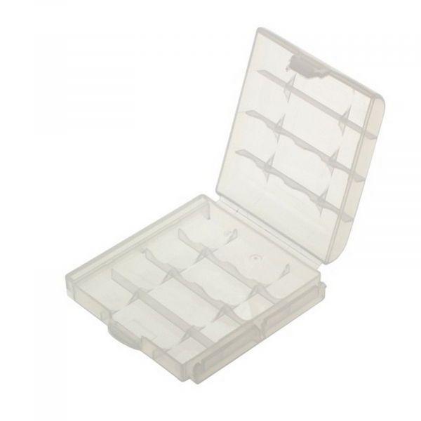 EWANTO Batteriebox / Akkubox zu Aufbewahrung von 4 Stk. Mignon (AA) oder Micro (AAA) Batterien und Akkus ohne Logo E014004