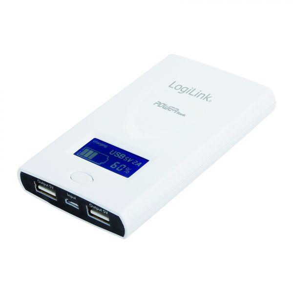 LogiLink Mobile Power Bank, w LCD, 6Ah