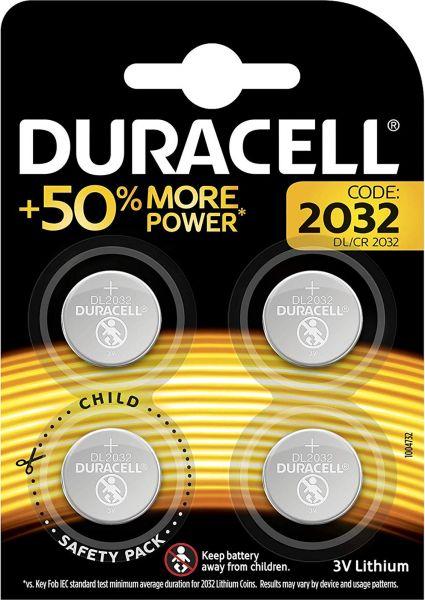 Duracell 2032 Lithium 3V Knopfzelle 4er Blister CR2032 DL2032 2032