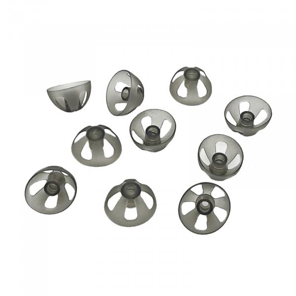EWANTO offener Dome/offenes Schirmchen aus Silikon für Hörgeräte Größe L (10 mm) HA-21