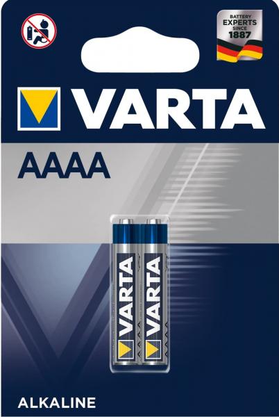 Varta Professional Mini AAAA LR61 Alkali-Mangan Batterie 1,5 V 640mAh 2er Blister 4061 LR8D425 MN25
