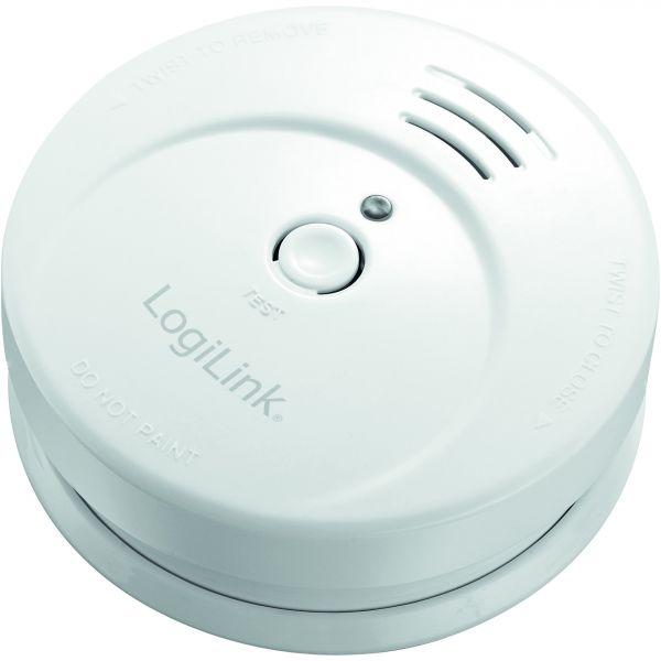 LogiLink Rauchmelder mit 9V Zink-Kohle-Batterie