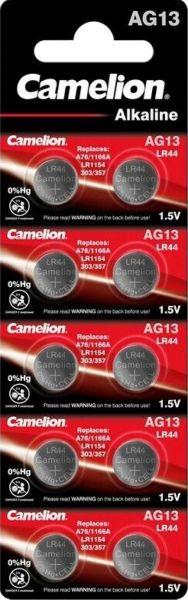 Camelion AG13 10er Blister Alkaline Knopfzelle Batterie LR44 LR1154 357 0%Hg AG13-BP10