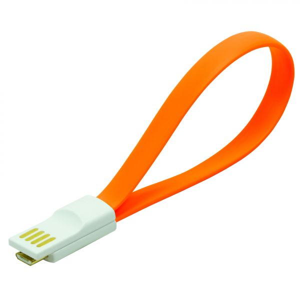 LogiLink USB Cable, magnetic, AM to Micro BM, orange