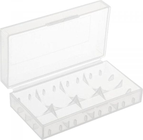 EWANTO EWANTONO Batteriebox / Akkubox zu Aufbewahrung von 4 Stk. CR123 / CR2 oder 2 Stk. 18650 Batterien und Akkus ohne Logo E014008