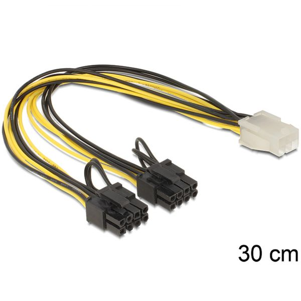 Delock Kabel PCI Express Stromversorgung 6 Pin (F)> 2 x 8 Pin (M) 83433