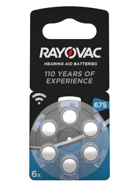 Rayovac Acoustic Special Gr. 675 Hörgerätebatterien 6er Blister PR44 Blau 1,45V 4600