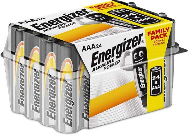Energizer Alkaline Power AAA 24er Box Micro Batterie 1,5V LR03 E300456500