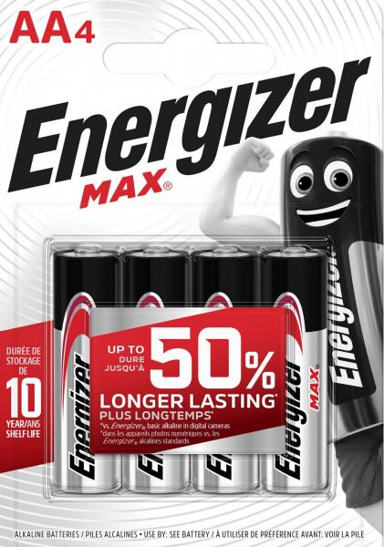 Energizer Max AA 4er Blister Mignon Batterie 1,5V E300112503