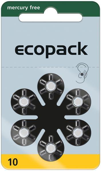 Varta ecopack Gr. 10 Hörgerätebatterien 6er Blister Gelb 1,4V 24610 24610726406