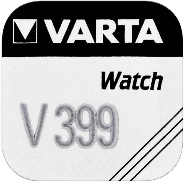 Varta Watch V 399 Uhrenzelle Knopfzelle SR 927 SW V399 Silber-Oxid 42mAh 1,55 V 1er Blister V 399