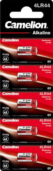 Camelion Alkaline Batterien 4LR44 1414A 6 V 5er Blister 12050544
