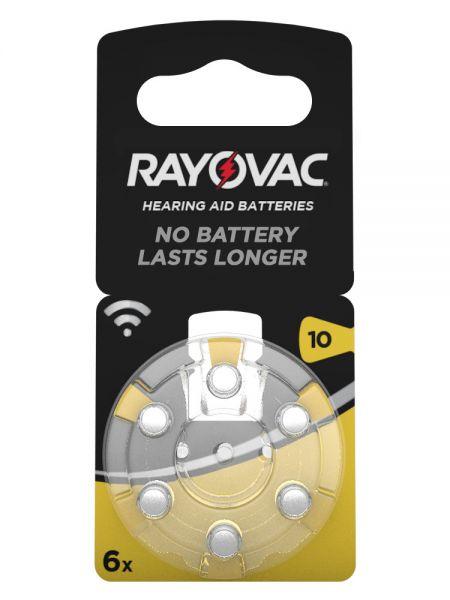 Rayovac 4610 Acoustic Special Gr. 10 Hörgerätebatterien 6er Blister PR70 Gelb 1,45V
