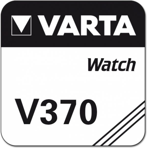 Varta Watch Uhrenzelle Knopfzelle SR 920 W V370 Silber-Oxid 30 mAh 1,55 V 1er Blister V 370