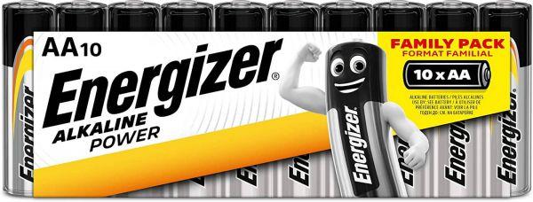 Energizer Alkaline Power AA 10er Shrink Mignon Batterie 1,5V LR06 E300172900