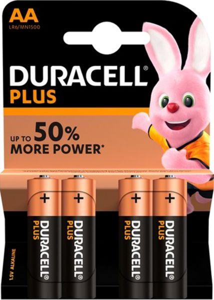 Duracell AA Mignon LR6 1,5V Plus Power 4er Blister Stilo Alkaline MN1500