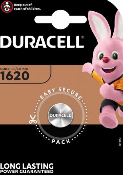 Duracell CR1620 1er Blister 3V Knopfzelle Batterie DL1620