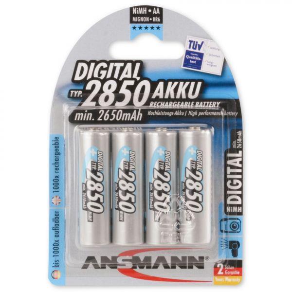 ANSMANN Digital NiMH Akku Mignon AA Typ 2850 min. 2650mAh 4er Blister 5035092