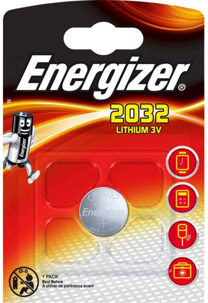 Energizer Lithium 3V Zelle 1er Blister CR2032 IEC C Knopfzelle ECR2032