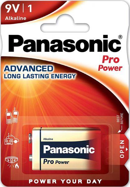 Panasonic Pro Power 9V Alkaline 1er Blister MN1604 6LR61 6LF22XEG/1B 6LF22PPG/1BP